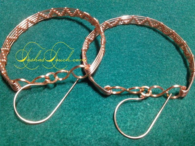 copper wire weave big hoop  earrings by tashastouch (2)